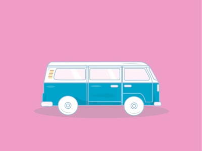 A Drive down Memory Lane vintage car illustrator branding drawing flat neon vector sticker dashboad illustration icon design