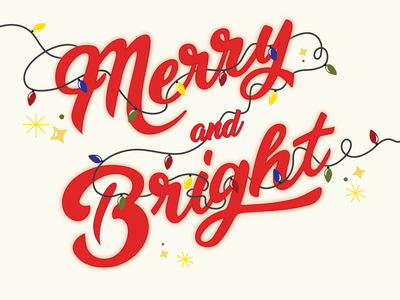 Merry and Bright neon design drawing holiday design holiday art hand lettering art typography art typography design typogrpahy illustration vector dashboad christmas designs christmas card