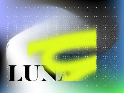Luna typography poster gradient typography album artwork graphic design graphics graphicdesign music album art