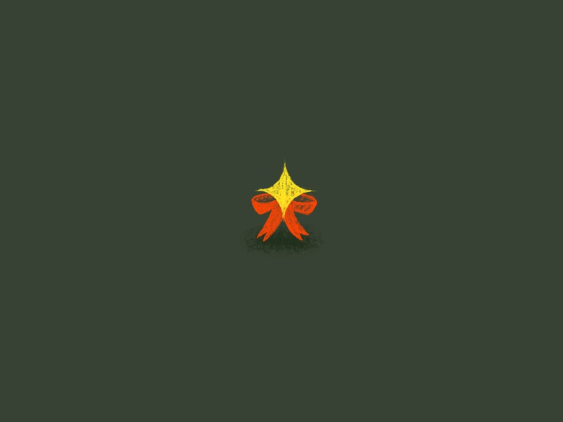 A Star and a Bow design graphic graphicdesign graphic design drawing christmas winter midwest illustration