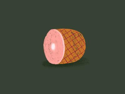 A Ham illustration design ham winter midwest procreate drawing graphic design design illustration