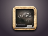 Blackboard Icon created with Sketch