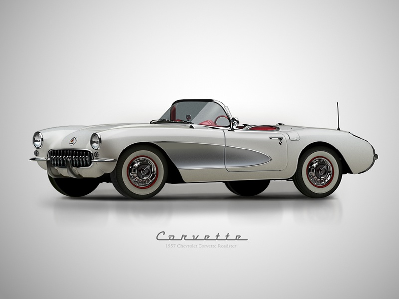 1957 Chevy Corvette Roadster Vector Drawing designer affinity drawing car vector