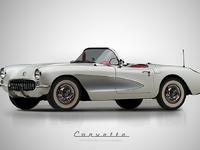 1957 chevrolet corvette roadster behance