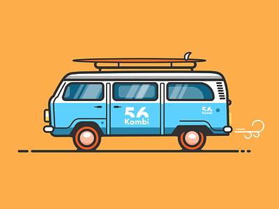 Flat Volkswagen van illustration tutorial. affinitydesigner designer affinity tutorial volkswagen van 2d vector illustration design flat