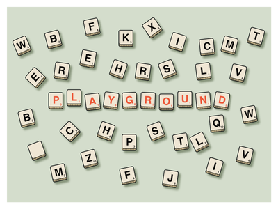 """""""Playground"""" / Wix Playoff: Take the Playground competition flat board wix design dribbble playoffs scrabble playground"""