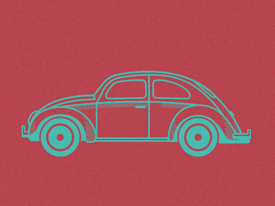 Beetlemania #2 volkswagen vehicle vector surf illustration halftone flat car beetle