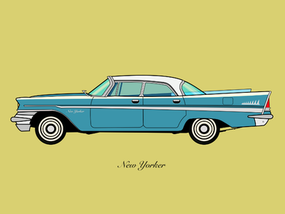 Chrysler New Yorker 1957 - Flat vector illustration