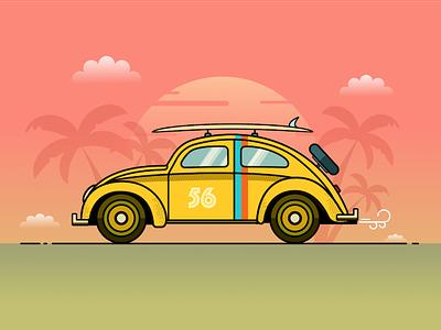 VW Beetle Illustration Tutorial for Smashing Magazine article stroke color colour bold flat design flat illustration volkswagen car vectorial vector affinity designer