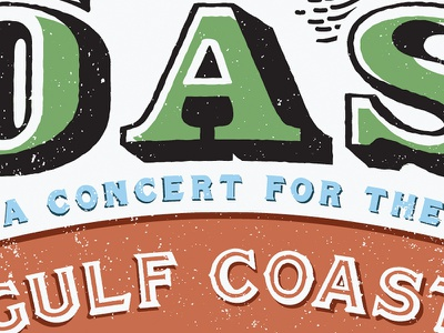 COAST Concert Poster poster texture type treatment