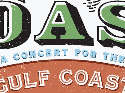 COAST Concert Poster poster texture type treatment
