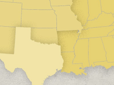 New regions graphic I'm working on map grunge texture retro texas