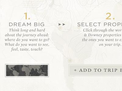 Build A Trip Idea travel vintage website web design trip build map