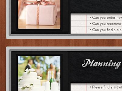 New UI Design leather texture ui website wood paper notebook