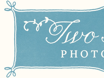 Two Times - New logo logo retro grunge texture stamp photography floral leaves vines