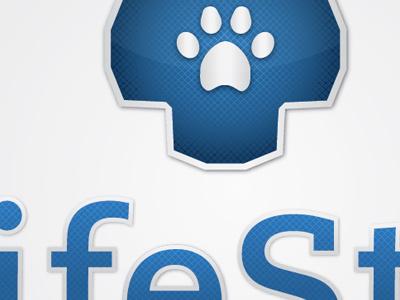 Lifestar Logo Idea logo design star life veterinary texture gradient metal