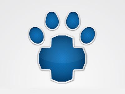 Lifestar Logo Idea logo design star life veterinary texture gradient metal paw animal dog