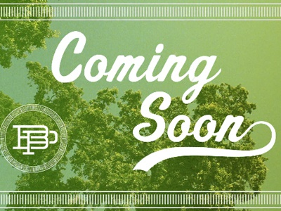 Coming Soon Title video title graphic script spoleto highlight grunge filter