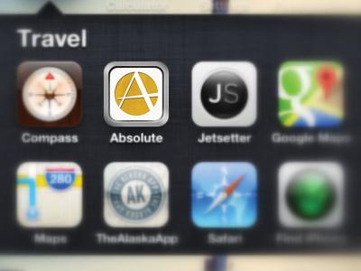Absolute Travel App Icon travel app icon retina