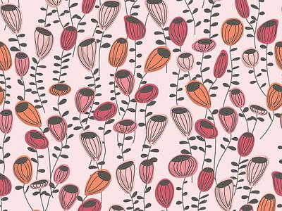 Mod Flowers Pattern mod floral pattern design surface pattern surface design pattern