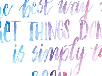 Get things done calligraphy watercolor brush pen brush calligraphy brush lettering hand lettering lettering