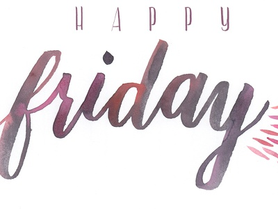 Happy Friday quote illustration watercolor modern calligraphy calligraphy brush calligraphy hand lettering brush lettering