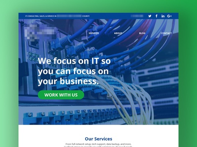 IT Services homepage header bootstrap hero ux responsive ui web