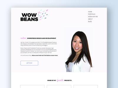 Wow Beans Homepage watercolor web web design ux ui responsive hero header bootstrap