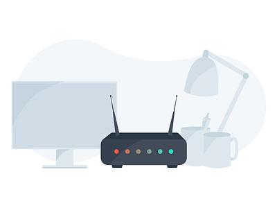 Modem Reset Illustration sketchapp vector illustration business modem