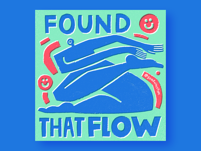 Found That Flow typography hand drawn design hand lettering handlettering illustration