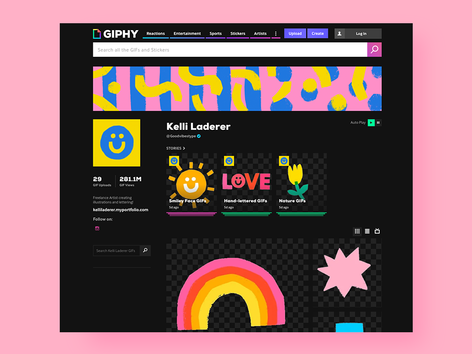 Giphy Gifs by @goodvibestype icon gif animation gifs gif animation web design typography illustration hand drawn hand lettering handlettering