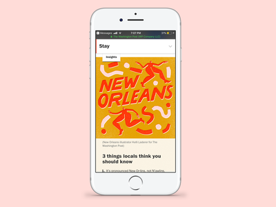 New Orleans for The Washington Post typography illustration hand lettering handlettering hand drawn design