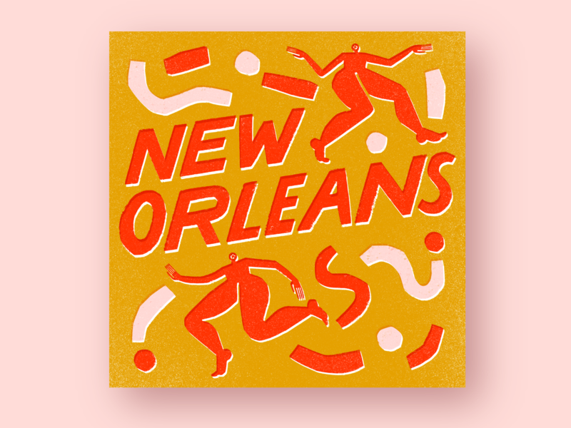 New Orleans for The Washington Post washington post new orleans design typography hand drawn illustration hand lettering handlettering