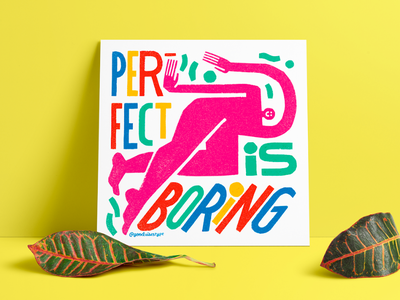 Giveaway! Perfect Is Boring giveaway goodvibestype hand lettering typography illustration design hand drawn handlettering