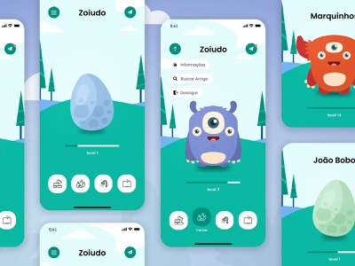 Tamagotchi | UI Design egg dino monster monsters colors app kid toy pets pet uidesign uidesigner tamagotchi