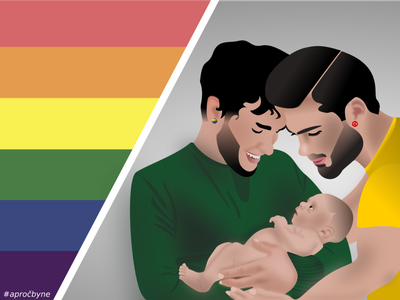 Gays gaypride adoption baby gay lgbtq lgbt vectorart illustration vector illustration vector graphics vector
