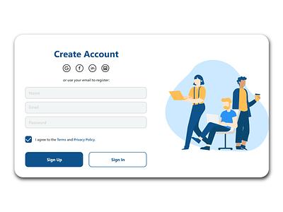 Sign Up Page minimal ui web design dailyui