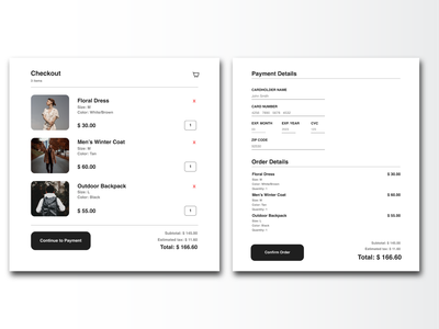 Credit Card Checkout typography web ui design dailyui