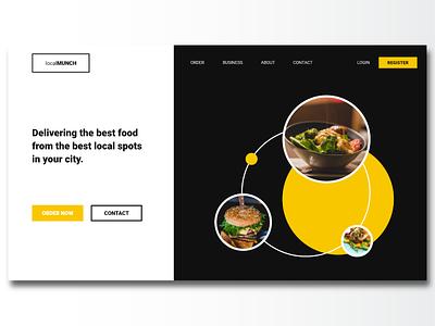 Food Landing Page flat minimal web ui design dailyui