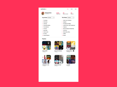 SpotifyStats.io Mockups web design ui stats ui spotify music web design