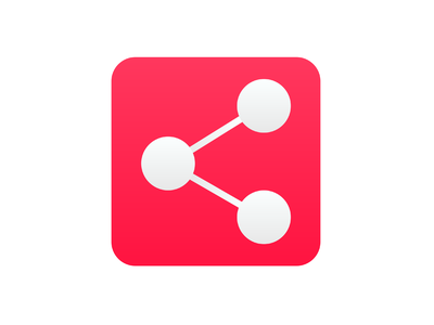 Social Share Icon mobile app flat logo mobile minimal dailyui ui design