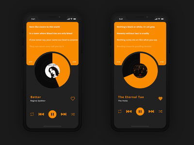 Music Player music mobile mobile app dailyui ui design