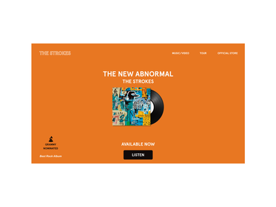 The New Abnormal Web Page website web design thestrokes music flat web minimal design