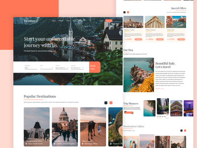 Travel Agency Website uxdesign modern minimal ux  ui uxui agency landing page webdesign travel travel blog travel agency traveling travel web travel website website designer mockup colorful nature travel packages travel guide trip planner