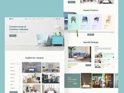 INWOOD - Furniture eCommerce Website responsive mockup figma free download figma free download psd free download responsive website design responsive layout online store web ui architecture interior website ecommerce web store furniture store furniture website furniture