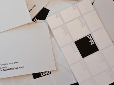 blvd business card logo minimal business card logo design spot uv white space