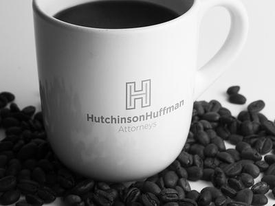 Hutchinson Huffman Logo Mockup logo mug h hh attorney lawyer law mock up law office
