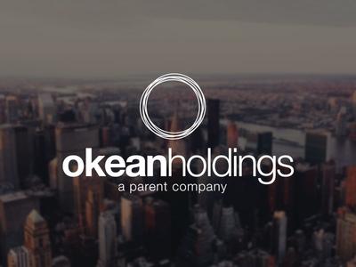 Okean Holdings logo o circle minimal modern simple corporate logo design