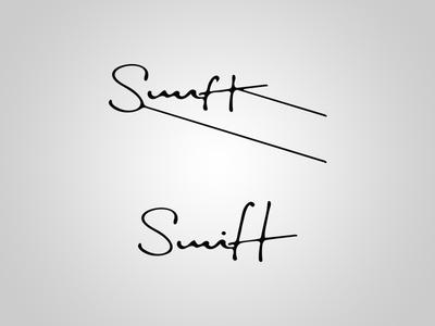 Swift Logo Concept logo sketch handwritten script cursive logotype swift logo design hand drawn