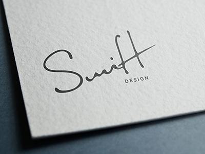 Swift Design Logo swift design simple script handwriting hand-lettering custom font logo logo design